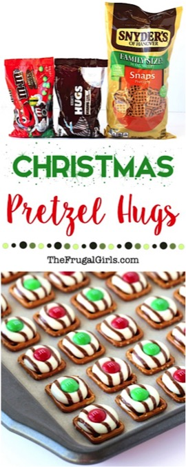 Christmas Pretzel Hugs