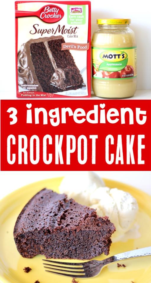 Crockpot Chocolate Cake Recipes Easy Devil's Food Dessert