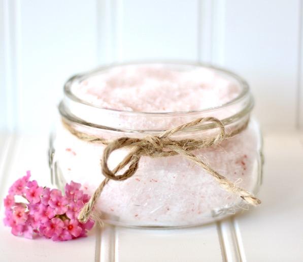 Homemade Bath Salts Recipe with Jasmine