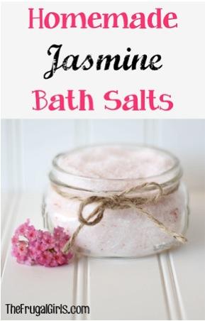 Homemade Jasmine Bath Salts