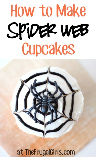 How to Make Spider Web Cupcakes from TheFrugalGirls.com