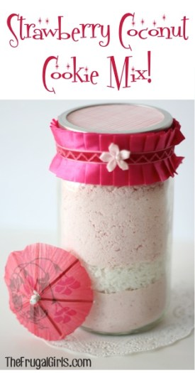 Strawberry Coconut Cookie Mix in a Jar at TheFrugalGirls.com