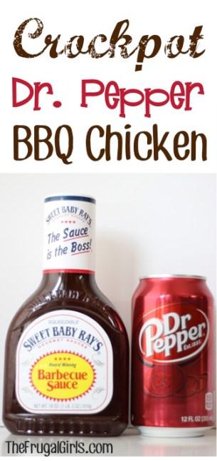Crockpot Dr. Pepper BBQ Chicken Recipe at TheFrugalGirls.com