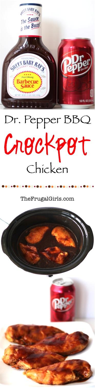 Crockpot Dr Pepper BBQ Chicken Recipe from TheFrugalGirls.com
