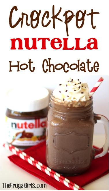 Crockpot Nutella Hot Chocolate Recipe from TheFrugalGirls.com
