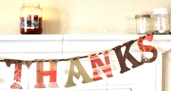 DIY Thanksgiving Banner Decor Craft