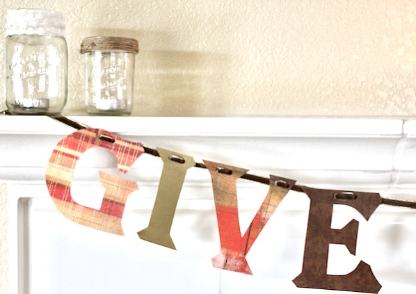 Give Thanks Banner Craft