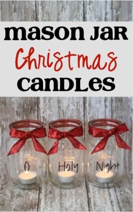 Mason Jar Christmas Candles from TheFrugalGirls.com