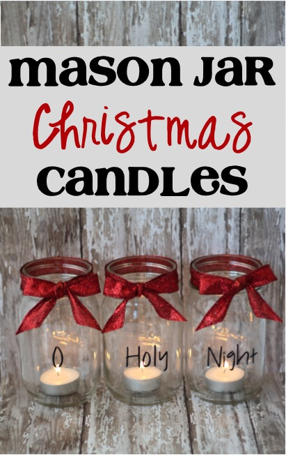 Mason Jar Christmas Candles Easy Craft Project The Frugal Girls