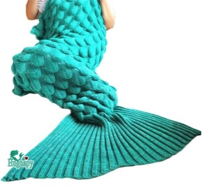 Soft Mermaid Tail Blanket