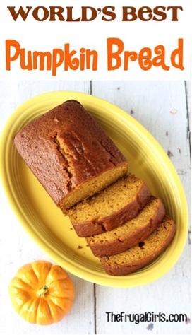 Worlds Best Pumpkin Bread Recipe