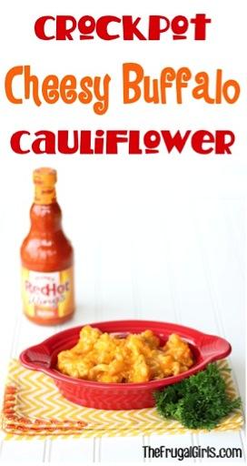 Crockpot Cheesy Buffalo Cauliflower