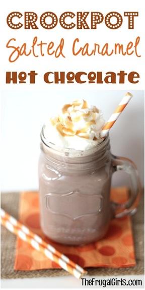 Crockpot Salted Caramel Hot Chocolate