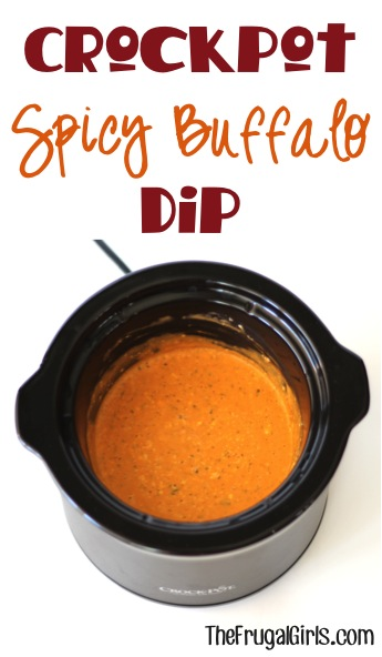 Crockpot Spicy Buffalo Dip Recipe - from TheFrugalGirls.com