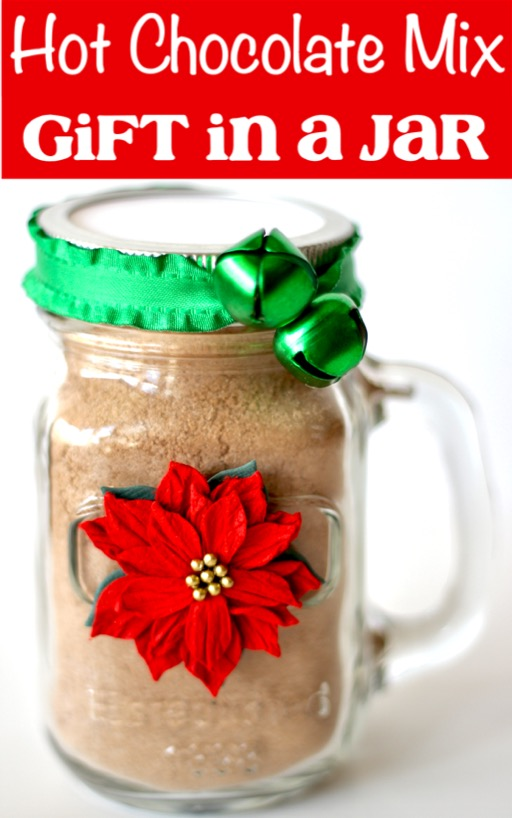 Hot Chocolate Mix Recipe Dry Gift in a Jar