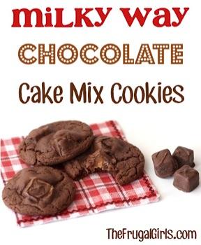 Milky Way Chocolate Cake Mix Cookies Recipe