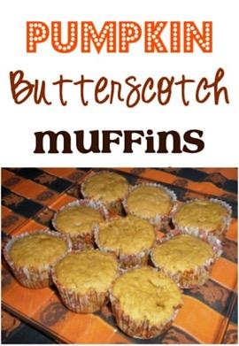 Pumpkin Butterscotch Muffins Recipe