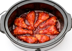 Slow Cooker Cranberry Chicken Legs Recipe at TheFrugalGirls.com