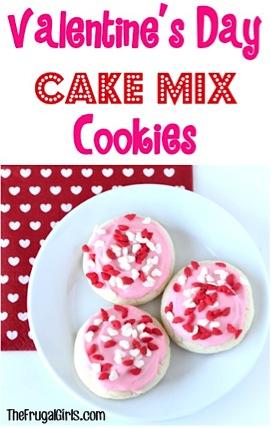 Valentine's Day Cake Mix Cookies Recipe