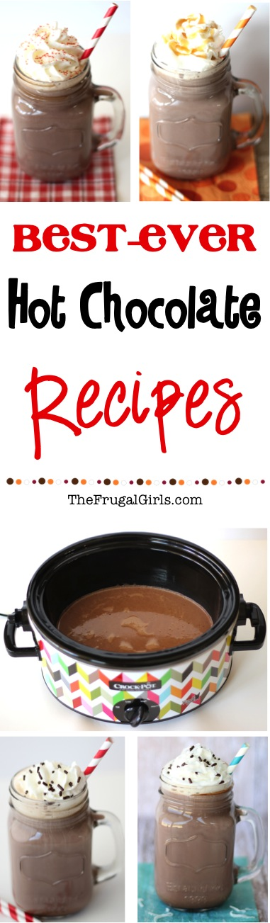 Crockpot Hot Chocolate Recipes from TheFrugalGirls.com