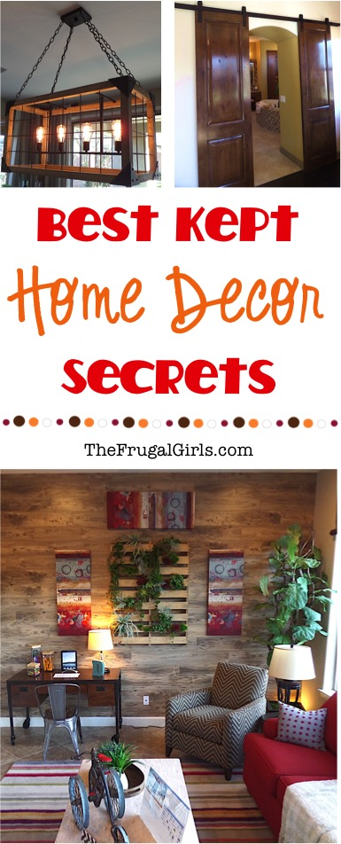 Best Kept Home Decor Secrets at TheFrugalGirls.com