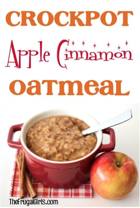 Crockpot Apple Cinnamon Oatmeal Recipe