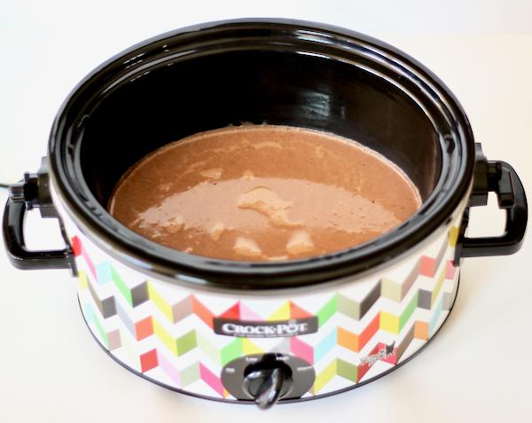 Crockpot Peppermint Hot Chocolate