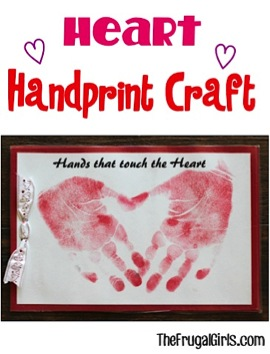 Heart Handprint Craft for Kids