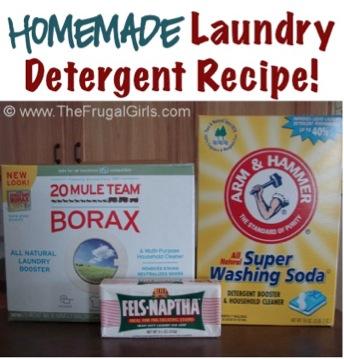 Homemade Liquid Laundry Detergent Recipe