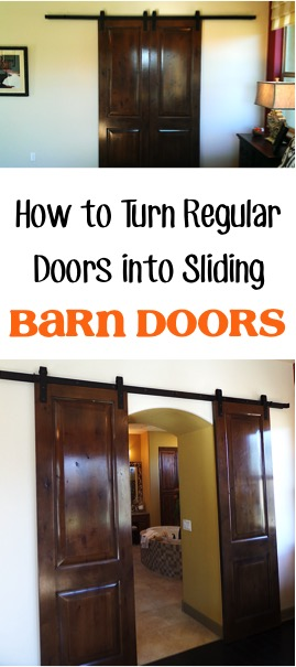How to Turn Regular Doors into Sliding Barn Doors