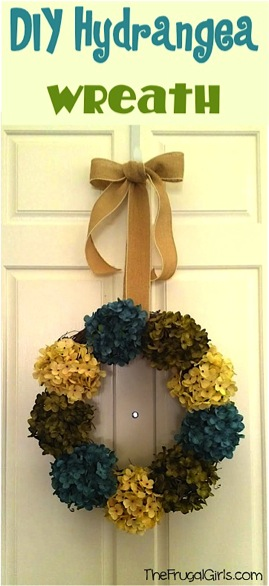 Hydrangea Wreath for Front Door