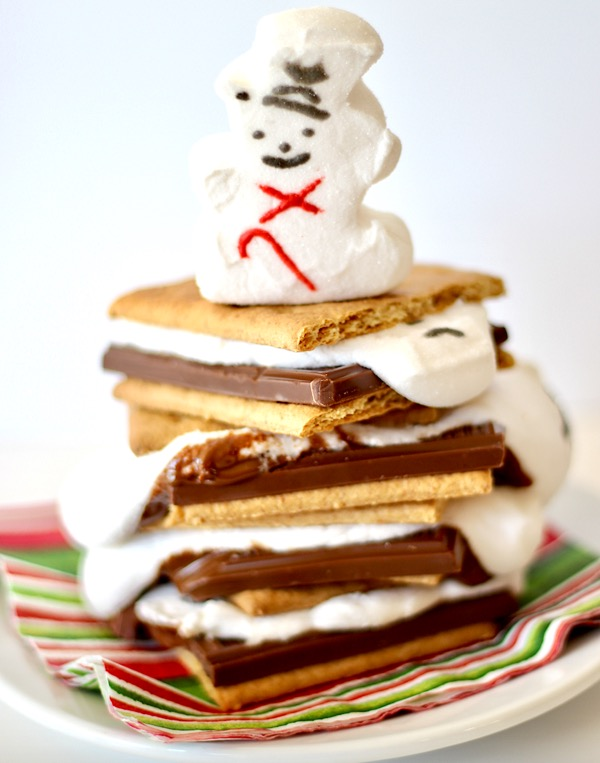 Melted Snowman Smores