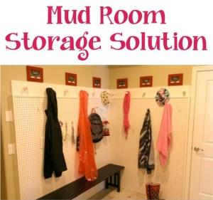 Mud Room Storage Solution