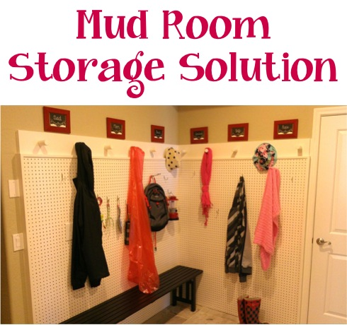 Mud Room Solution at TheFrugalGirls.com