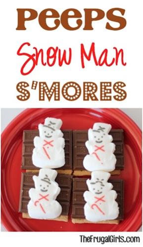 Peeps Snowman S'mores