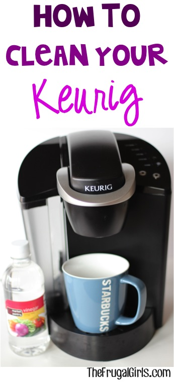 How to Clean Your Keurig Coffee Maker - at TheFrugalGirls.com