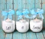 Mason Jar Candles Let it Snow