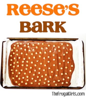 Reeses Bark Recipe at TheFrugalGirls.com