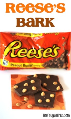 Reeses Bark Recipe from TheFrugalGirls.com
