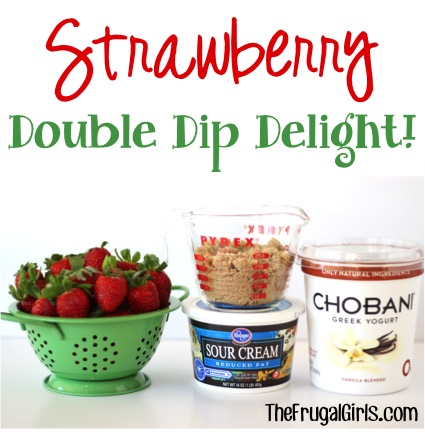 Strawberry Double Dip Delight - at TheFrugalGirls.com