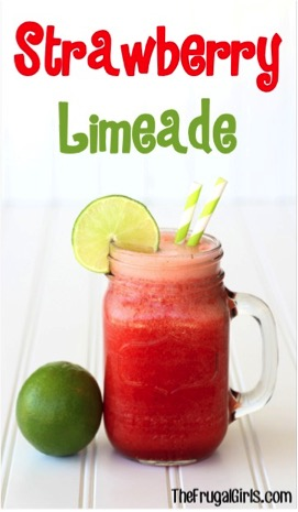 Strawberry Limeade Recipe from TheFrugalGirls.com