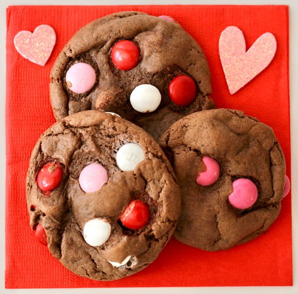 Valentine's Day M&M Cake Mix Cookies Recipe