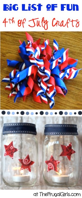 BIG List of Fun 4th of July Crafts from TheFrugalGirls.com