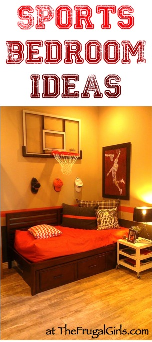 Creative Sports Bedroom Theme Ideas at TheFrugalGirls.com