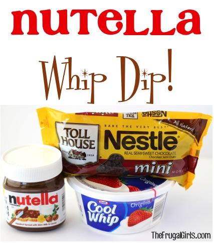 Nutella Whip Dip Recipe at TheFrugalGirls.com