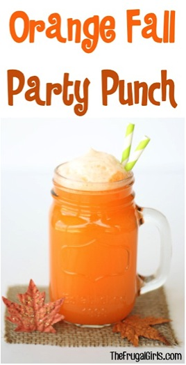 Orange Fall Party Punch Recipe