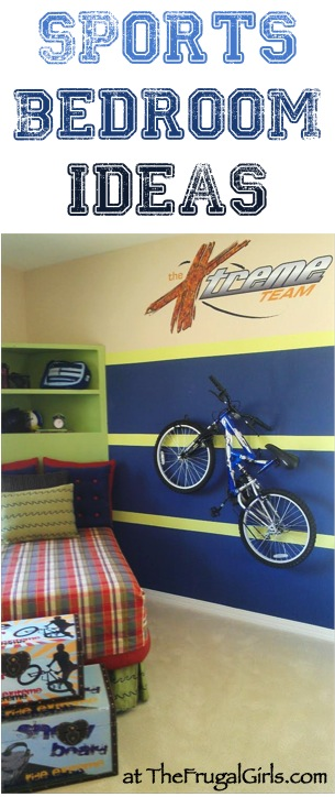 Sports Bedroom Theme Ideas - at TheFrugalGirls.com