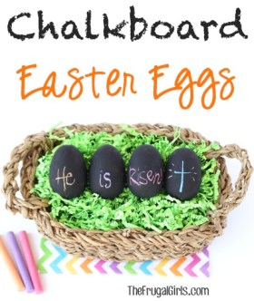 Chalkboard Easter Eggs from TheFrugalGirls.com