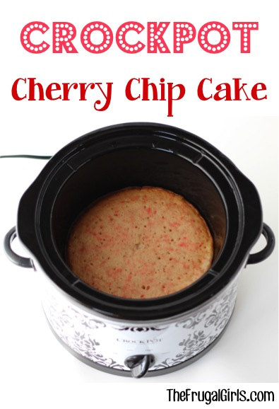Crockpot Cherry Chip Cake Recipe from TheFrugalGirls.com