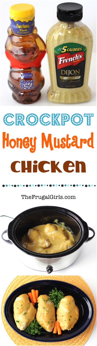 Crockpot Honey Mustard Chicken Recipe - at TheFrugalGirls.com